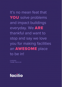 Thank you note for FM Expo Dubai Facilities Managers 2018